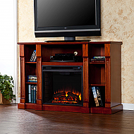 "52"" Kendall Electric Media Fireplace - Classic Mahogany"