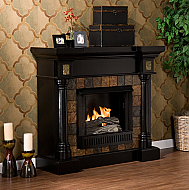 "44.5"" Holly & Martin Weatherford Convertible Gel Fireplace-Black"