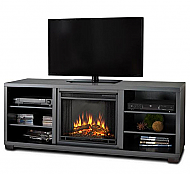 "68.9"" Marco Black Entertainment Center Electric Fireplace"