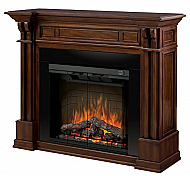 "63"" Dimplex Kendal Burnished Walnut Purifire Electric Fireplace"
