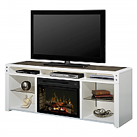 "68"" Dimplex Galloway Electric Fireplace Media Console - GDS25L-1434W/GDS25G-1434W"