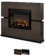 "65.5"" Dimplex Linwood Rift Grey Fireplace Package"