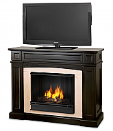 "46.5"" Ratherford Walnut Gel Entertainment Center Fireplace"