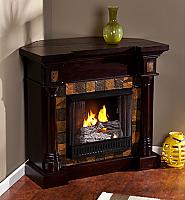 "44.5"" Carrington Classic Espresso Convertible Gel Fireplace - FG8748"