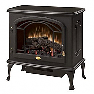 "26.9"" Dimplex Deluxe Black Stove Electric Fireplace"