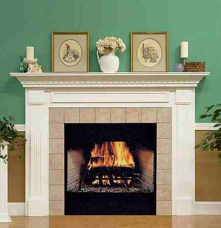 You can build your own fireplace mantel in an assortment of styles ...