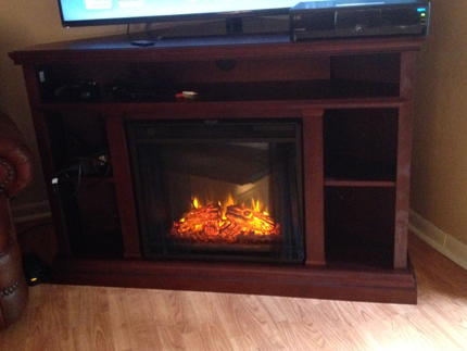 """Real Flame Churchill Electric Fireplace TV Stand. """" - Electric Fireplace Repair: Replacing Your Flame"""