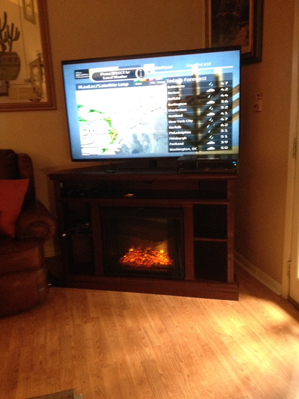 Churchill Electric Fireplace TV Stand by Real Flame