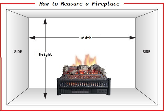 In order to measure your fireplace