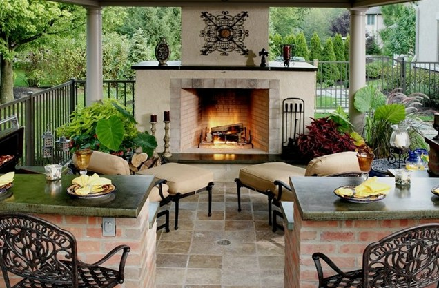Awesome Outdoor Fireplace Vs Outdoor Fire Pit Ideas