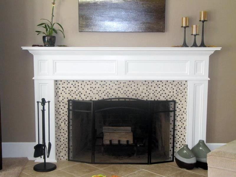 White Fireplace Mantel Ideas 800 x 600