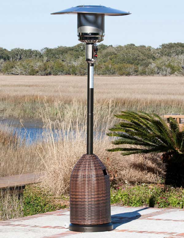 Nevada Wicker Propane Patio Heater