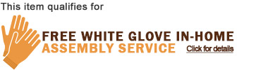 This item qualifies for Free White Glove In-Home Assembly Service